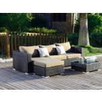 Moonlight Relax loungesæt - brunmix polyrattan