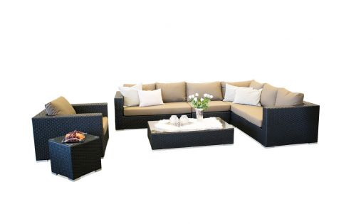Moonlight Dream loungesæt - sort polyrattan
