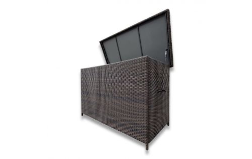 Fredo XL hyndebox i chocolate polyrattan