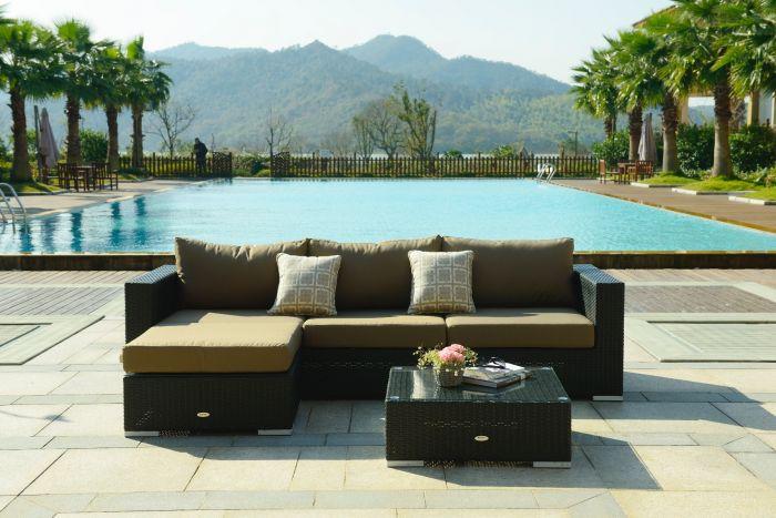 Moonlight Relax loungesæt - sort polyrattan