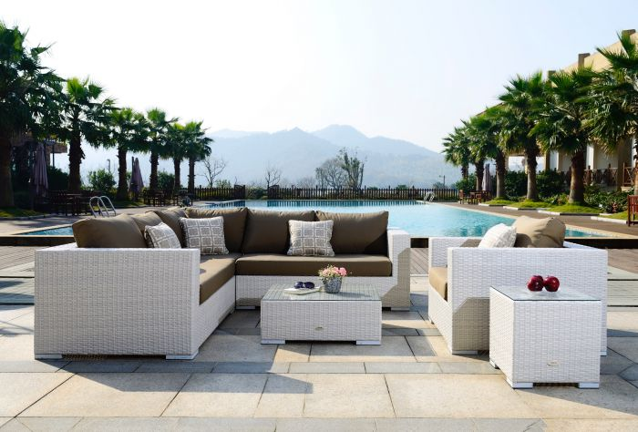 Moonlight Living loungesæt i hvid polyrattan