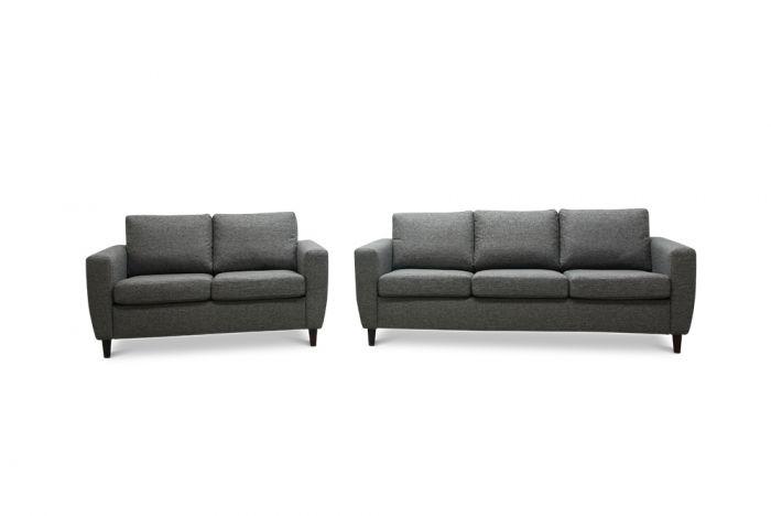 Arendal 3 og 2-seter sofa - mørk grå