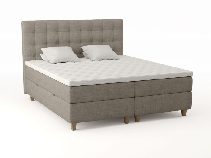 Comfort seng med oppbevaring 180x200 - beige