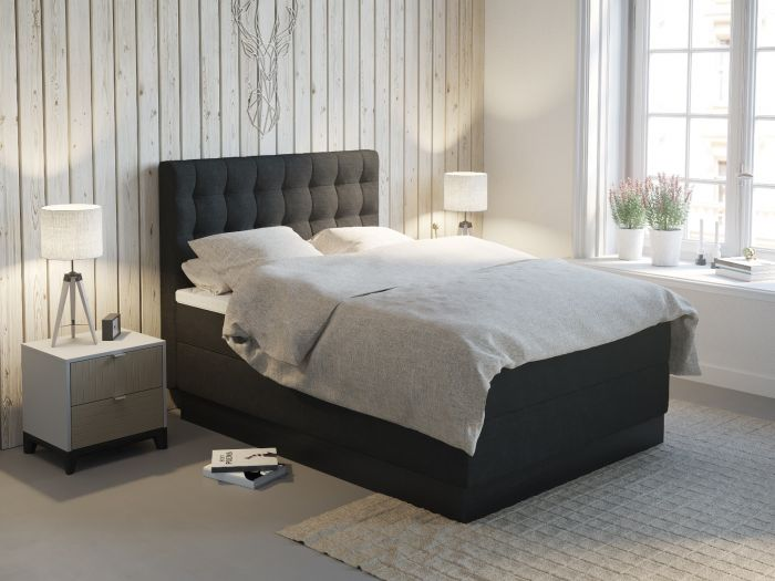 Comfort kontinentalseng 150x200 - antrasitt