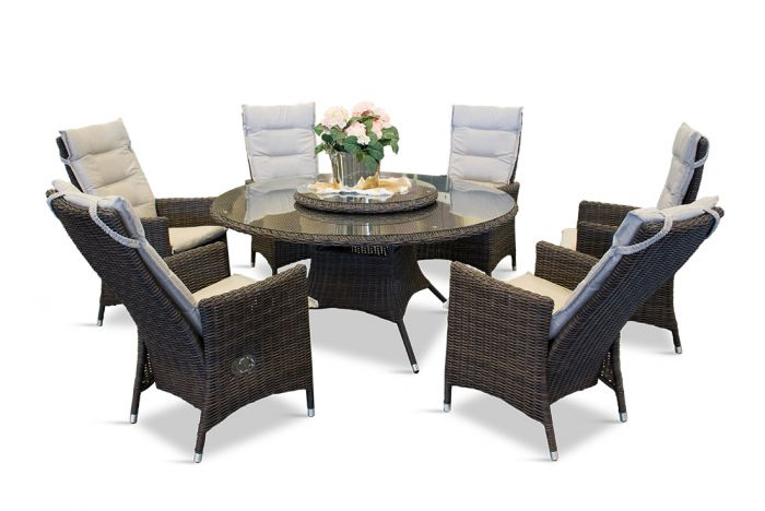 Comfort round - havesæt med 6 stole I chocolate