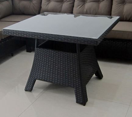 Florida firkant bord - gråmix polyrattan