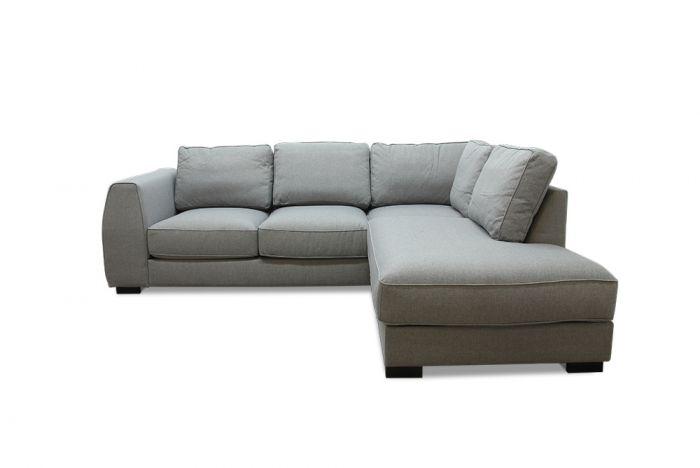 Risør 2A sofa med sjeselong - lys grå