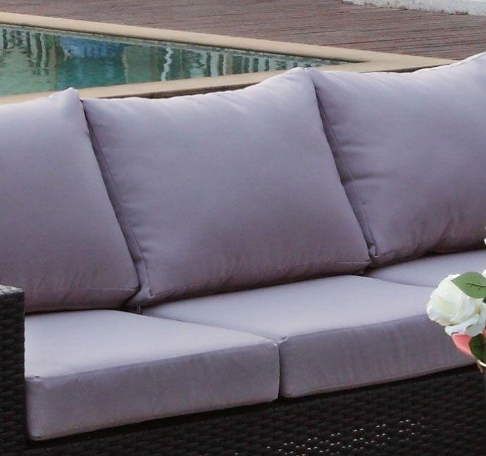 Grå putetrekk - Sett for komplett Sun daybed