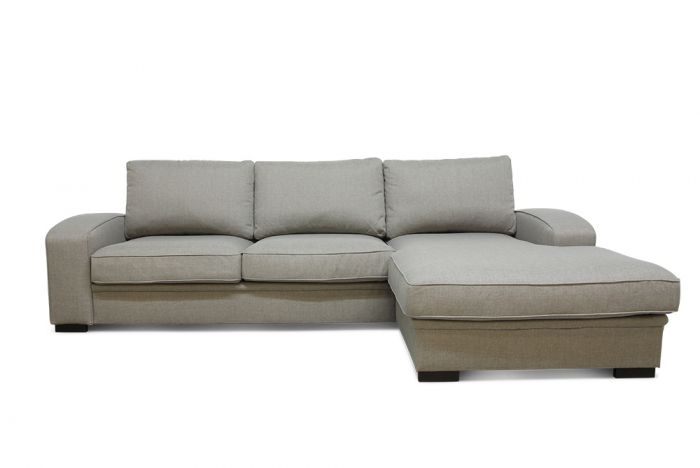 Grimstad 3D sofa med sjeselong - beige