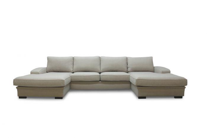 Grimstad D4D U-sofa med sjeselong - sand