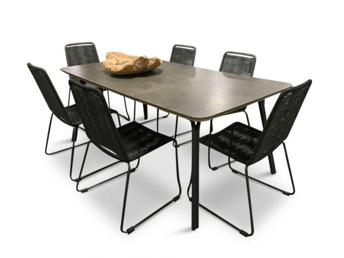 Simi 180 & Elos - havesæt 6 stoler og bord