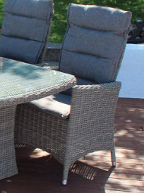 Comfort/Holiday lænestol m/puter - gråmix
