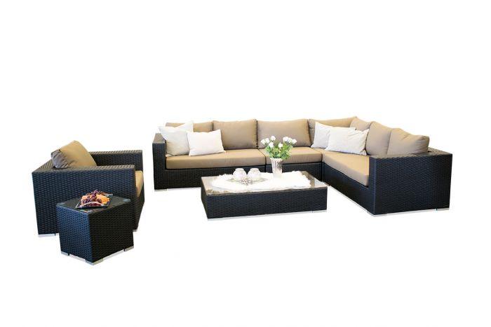 Moonlight Dream loungesæt - sort polyrattan