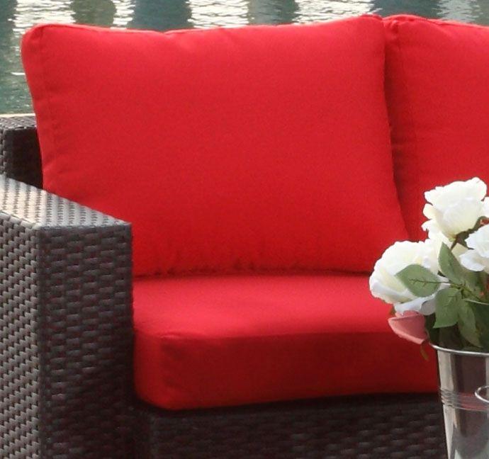 Røde putetrekk - Sett for komplett Sun daybed