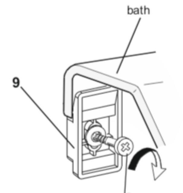 Veggclips Waterlux badekar