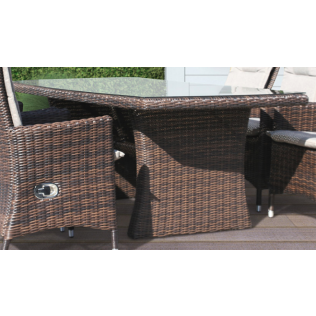 Holiday havebord - chocolate polyrattan