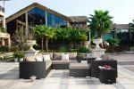 Moonlight Living loungesæt i sort polyrattan