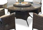 Comfort - rundt havebord i chocolate polyrattan
