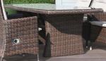 Holiday havebord - chocolate polyrattan