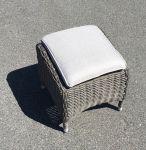 Comfort/Holiday fodskammel - gråmix polyrattan