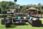 Moonlight loungesæt - sofagruppe i brunmix polyrattan