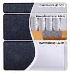 Comfort seng med oppbevaring 120x200 - lysegrå