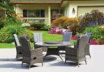 Comfort round - havesæt med 6 stole gråmix