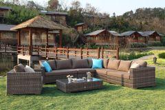 Moonlight loungesæt - sofagruppe i gråmix polyrattan