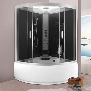 Romeo brusekabine/badekar grå 135x135