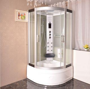 Aneto massasgekabine/badekar hvid 100x100