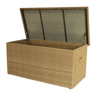 Fredo XL hyndebox i natur polyrattan