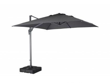Sky sidehængt parasol 300x300 cm i grå