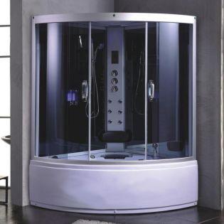 Romeo 1 dampkabine/boblebad 135x135 grå