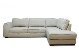 Risør 25A sofa med sjeselong - sand