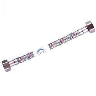 """Trykslange rustfrit stål 180cm lige 1/2 """"- vinkel 3/4"""""""