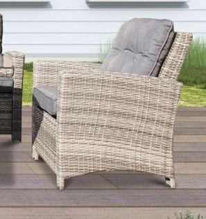 Amazonas stol i gråmix polyrattan