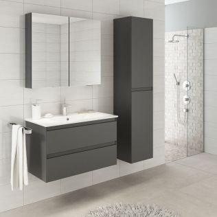 NoraDesign 80 cm badeværelsesmøbel grå mat