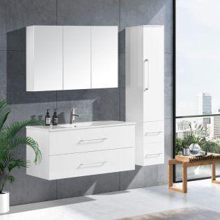 LindaDesign 120 cm badeværelsesmøbel hvid højglans