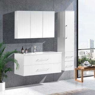 LindaDesign 120 cm badeværelsesmøbel hvid matt