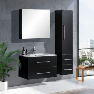 LindaDesign 80 cm badeværelsesmøbel sort matt