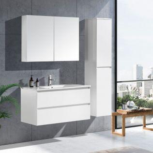 NoraDesign 100 cm badeværelsesmøbel hvid matt