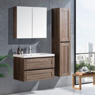 Victoria 80cm badeværelsesmøbel grå elm