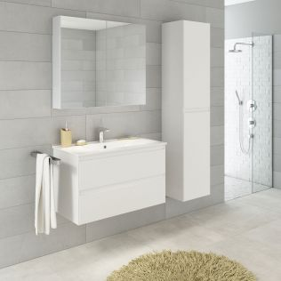 NoraDesign 80 cm badeværelsesmøbel hvid mat