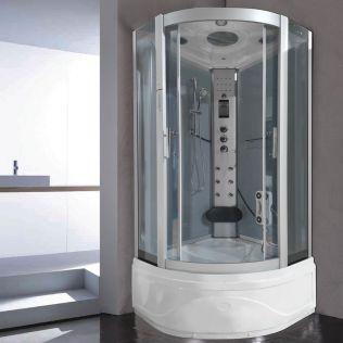 Aneto massagekabine/badekar grå 100x100