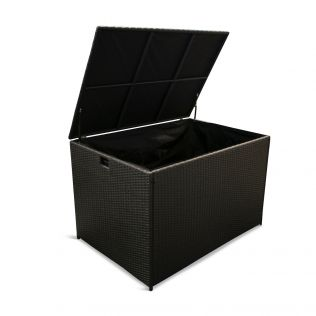Afternoon hyndebox i svart polyrattan