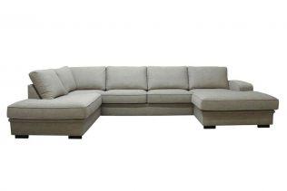 Grimstad A3D U-sofa med sjeselong - sand