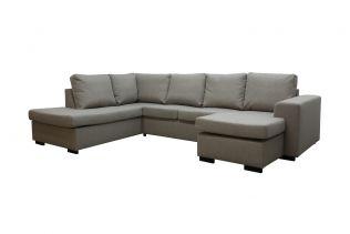 Holmsbu A3D U-sofa med sjeselong - beige
