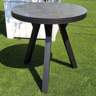 Jamaica rundt spisebord ø70 cm i aluminium, antracit