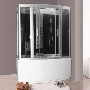 Michelle 1 massagekabine/badekar - uden strøm - 150x90 grå