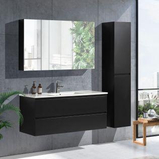 NoraDesign 120 cm badeværelsesmøbel single matsort